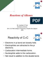 Reaction of Alkene