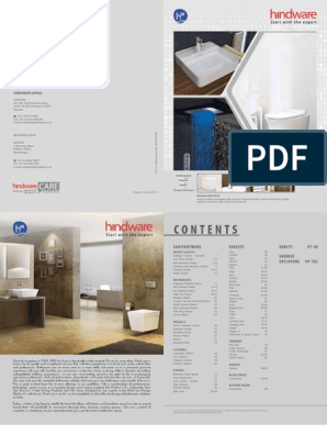 Hindware Catalogue Price List Sanitaryware Product And Fittings