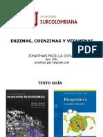 Tema 3.1 Enzimas, Coenzimas y Vitaminas