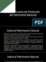 Leyes Peruanas de Protección Del Patrimonio Nacional