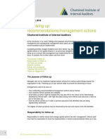 Following Up Recommendations_management Actions