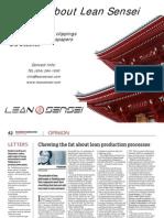 Various Articles About Lean Sensei