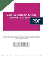 Manual Usuario Dodge Journey 2010 Espanol
