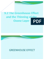 The Greenhouse Effect and the Thinning of the Ozone Layer