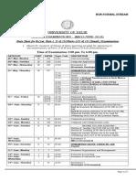 Date Sheet for B.com Part 1-2-3