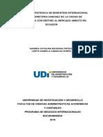 Propuesta Estrategica de Marketing Internacional Para La Ferreteria Sanchez de La Ciudad de Bucaramanga Con Destino Al Mercado Ambato en Ecuador