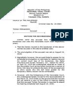 Motion for Reconsid...TOMAS FERNANDEZ