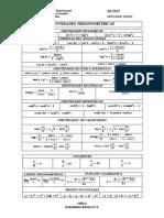 Tabla Identidades Trigonometricas
