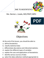 Biostatistics - Introduction