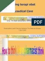 Monitoring terapi obat dalam Pharmaceutical Care.ppt