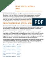 Reinforcement Steel Mesh