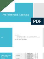 Pra Pelatihan E-Learning
