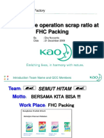 (Improve Operation Scrap Ratio at sachet line)