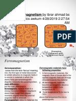 Ferromagnetism by Ibrar Ahmad Bs Physics