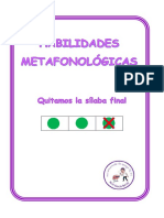 Habilidades Metafonologicas Eliminar Silaba Final Cuadricula