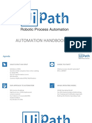 UiPath - Hand Book | Automation | Business Process