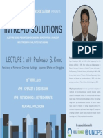 Intrepid Solutions Phase II, Lecture #1 Prof. S. Kono