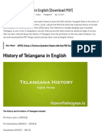 History of Telangana in English [Download PDF] - Times of Telangana