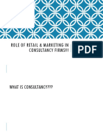 Role of Retail & Marketing in Consultancy Firms