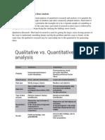 Qualitative vs Quantitative Data Analysis