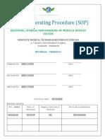 SOPs-IMT.ssm.06 Storage and Handling System