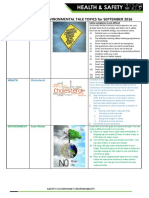 Safety Topics September 2016