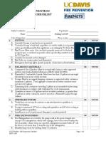 Self Inspection Checklist