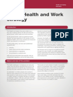 Health and Work Strategy