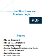 04 Decision Structures and Boolean Logic PPT