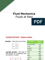 Fluids at Rest