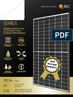 REC N Peak Solar Panel Datasheet