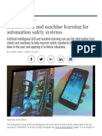 Benefits of AI and Machine Learning for Automation Safety Systems - Plant Engineering