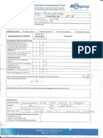 End of Shift Assessment Form