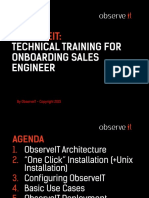 ObserveIT Technical SE and Partner Overview