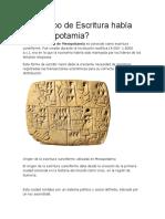 Qué Tipo de Escritura Había en Mesopotamia