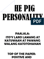 The Pig Personality Ice Breaker