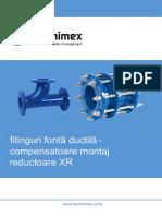 Fitinguri fontă ductilă - compensatoare montaj reductoare XR