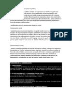 Características de La Comunicación Terapéutica