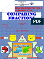MATH 6-( SIM) Comparing Fractions