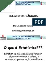 cONCEITOS bÁSICO fUNDAMENTOS DE BIOESTATÍSTICA