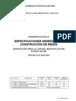 Especificaciones Generales de Construccion Redes