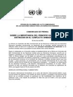Carta de la ONU a Álvaro Uribe