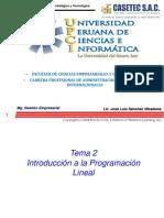 Semana 2 y 5 - ProgramacionLineal
