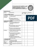 Check List Administracion