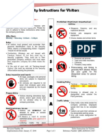 Safety Instructions for Visitors QMS ADM B G 1007