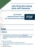 Antipsychotic Drugs in Elderly Dementia Patients