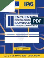 Programa II Encuentro de Periodismo de Investigación Europa-Latinoamérica