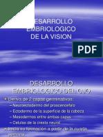 Desarrollo Embrionario de La Vision