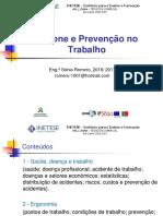Higiene e Prevenção No Trabalho
