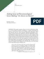 Cerbone Making Sense of Phenomenological Sense-Making on Moore on Husserl